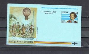 ESPAÑA 9989 AEROGRAMA 002