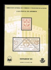 ESPAÑA HOJITAS DE EXPOSICIONES FILATELICAS 10