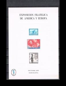 ESPAÑA HOJITAS DE EXPOSICIONES FILATELICAS 5