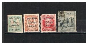 ESPAÑA SOBREIMPRESIONES REVOLUCIONARIAS  MALAGA.106.2