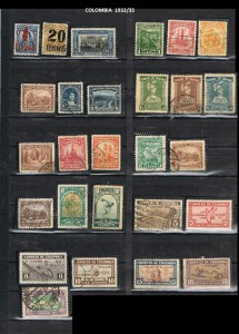 COLOMBIA 1932--35 .7