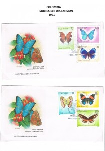 COLOMBIA 1991- FDC 33