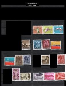 LIECHTENSTEIN  -1952-1959  5