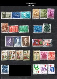 LIECHTENSTEIN  -1959-1963  6
