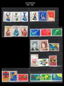 LIECHTENSTEIN  -1966-1968  10
