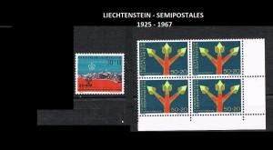 LIECHTENSTEIN  SEMIPOSTALES  1925-1967 38