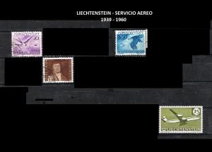 LIECHTENSTEIN  SERV. AEREO  1939-1960 40