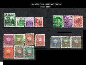LIECHTENSTEIN  SERV. OFICIAL 1932-1950 41