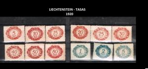 LIECHTENSTEIN  TASAS  1920   43