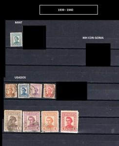 URUGUAY 1939-1940.-1
