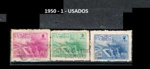URUGUAY 1950-1 USADOS