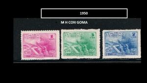 URUGUAY 1950-2 MH CON GOMA