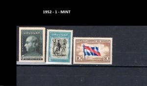 URUGUAY 1952-1 MINT