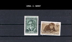 URUGUAY 1956-1 MINT