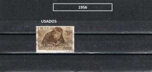 URUGUAY 1956-2 USADOS