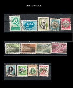URUGUAY 1958-1 USADOS