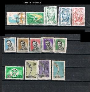 URUGUAY 1959-1 USADOS