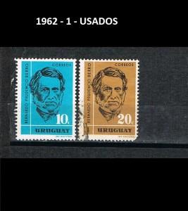 URUGUAY 1962-1 USADOS