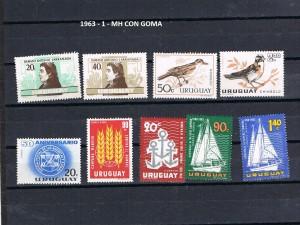 URUGUAY 1963-1 MH CON GOMA