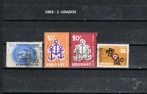 URUGUAY 1963-1 USADOS
