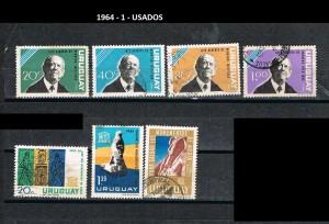 URUGUAY 1964-1 USADOS