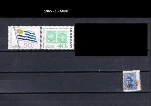 URUGUAY 1965-1 MINT