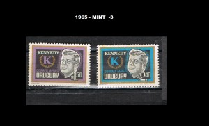 URUGUAY 1965-3 MINT