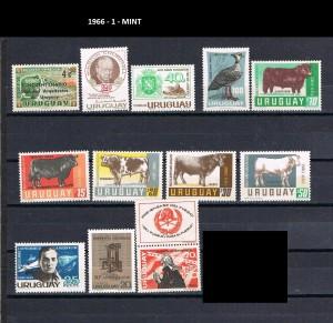 URUGUAY 1966-1 MINT