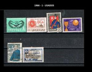 URUGUAY 1966-1 USADOS