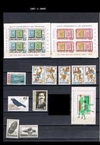 URUGUAY 1967-1 MINT