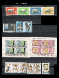 URUGUAY 1967-1 USADOS