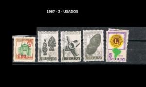 URUGUAY 1967-2 USADOS