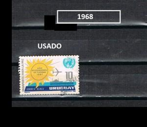 URUGUAY 1968- 1969-2 USADOS
