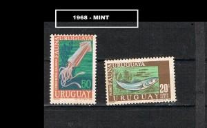 URUGUAY 1968  MINT