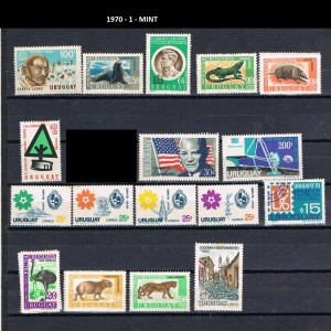 URUGUAY 1970-1 MINT