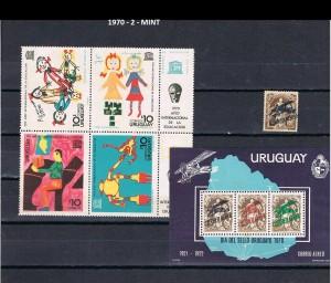 URUGUAY 1970-2 MINT