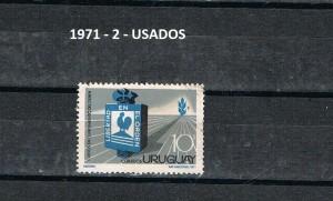 URUGUAY 1971-2 USADOS