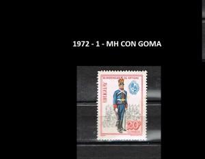 URUGUAY 1972-1 MH CON GOMA