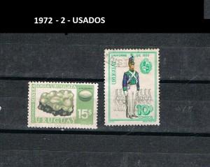 URUGUAY 1972-2 USADOS