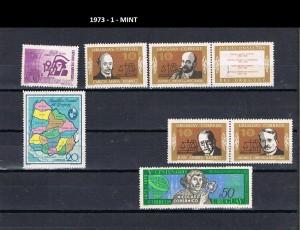 URUGUAY 1973-1 MINT