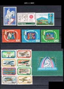 URUGUAY 1974-2 MINT.