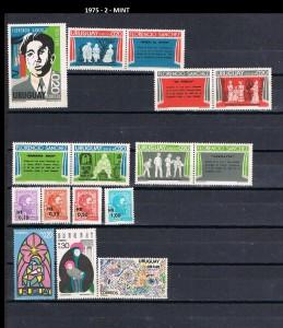 URUGUAY 1975-2 MINT