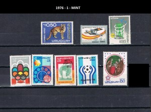 URUGUAY 1976-1 MINT