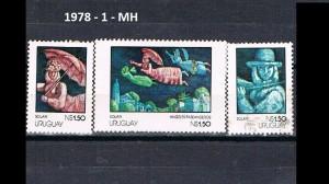 URUGUAY 1978-1 MH CON GOMA