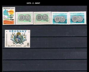 URUGUAY 1979-2 MINT