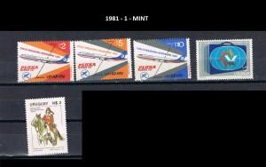 URUGUAY 1981-1 MINT