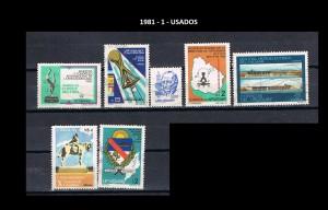 URUGUAY 1981-1 USADOS