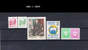 URUGUAY 1982-1 MINT