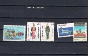 URUGUAY 1983-1 USADOS