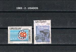 URUGUAY 1983-2 USADOS